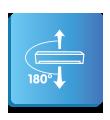 Вертикален въздушен поток до 180°