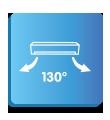 Хоризонтален въздушен поток до 130°
