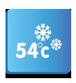 Охлаждане при +54° C