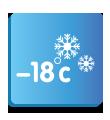 Охлаждане при -18° C