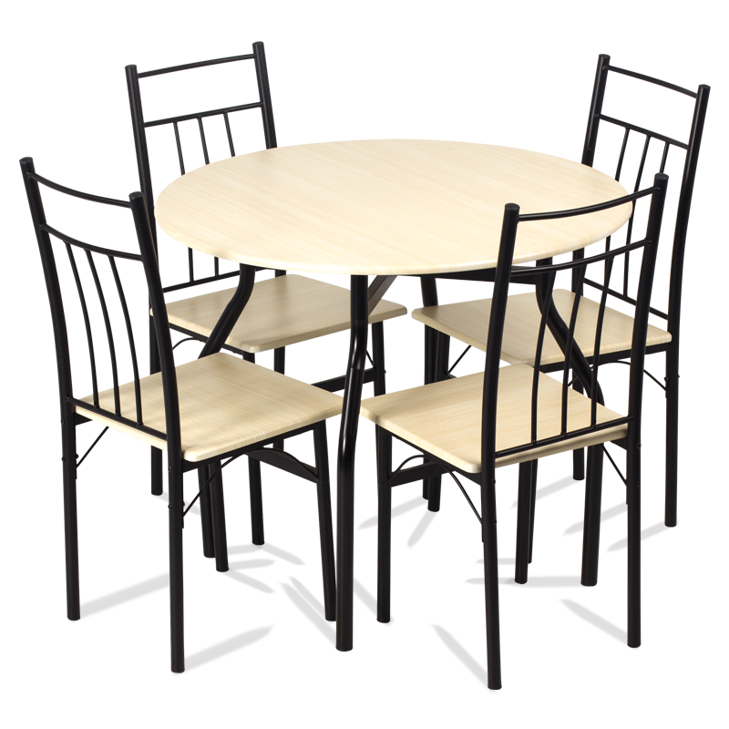 Dining set table with 4 chairs carmen 20010 maple price eur set table and chairs - Modern dining room table png ...