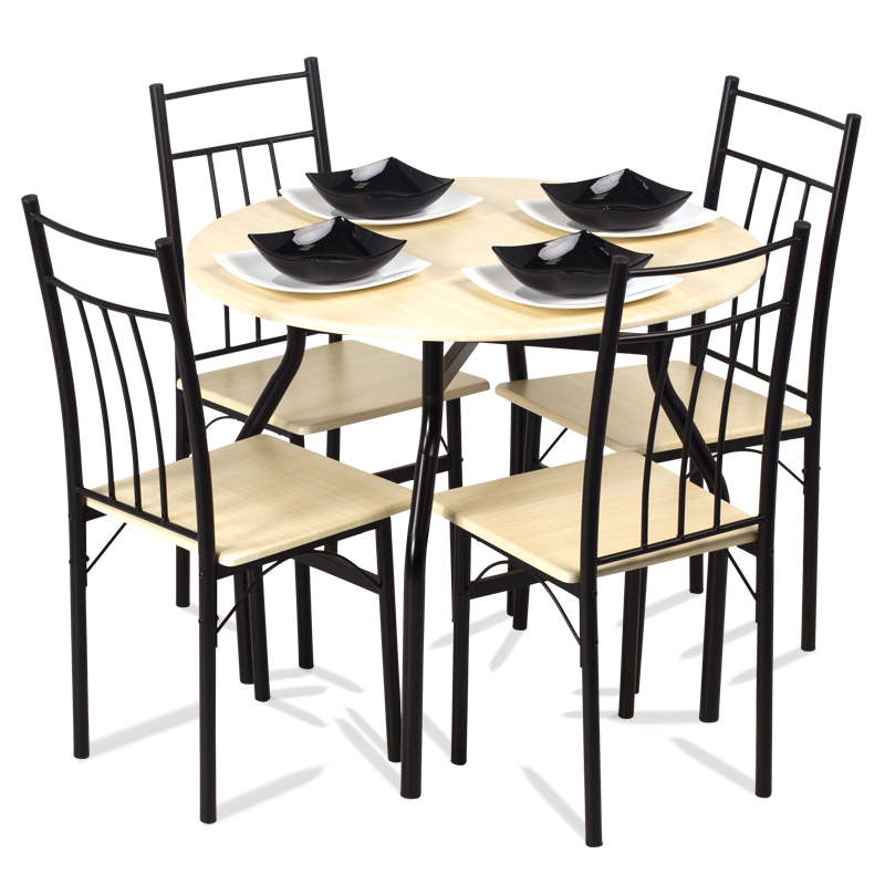 Dining Set Table With 4 Chairs Carmen 20010 Maple Price