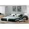 Leather bed - AVA 160 - black-white - 3