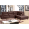 Leather corner sofa CAPRICE - chestnut - 3