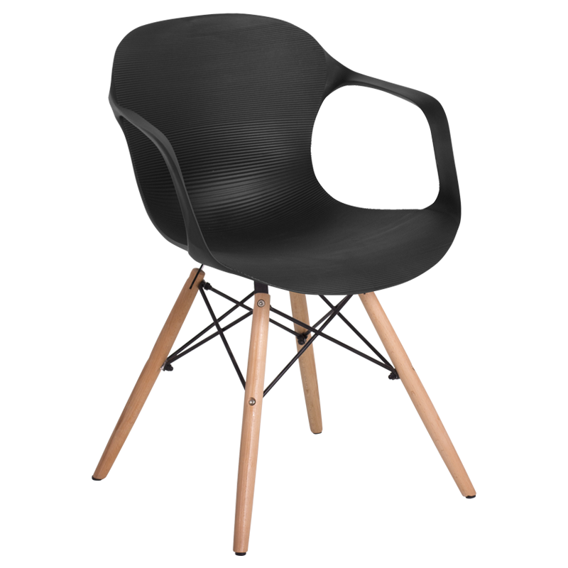 Review Dining chair Carmen 9964 black 1 Beautiful - Latest black plastic chairs Top Design