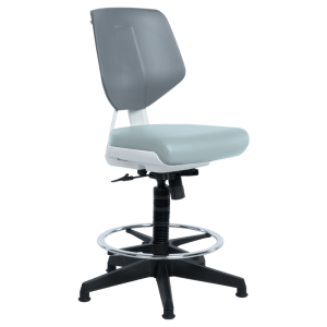 Working chair LAB LUX - grey SIL