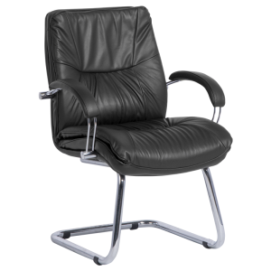 Visitor chair PARMA - black LUX