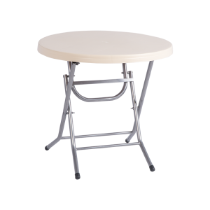 Folding plastic garden table MANOLYA 80 - beige