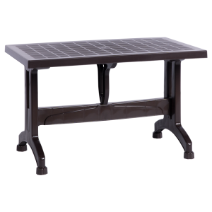 Plastic garden table KOKNAR 70 - dark brown