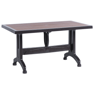 Plastic garden table SELVI 80 - brown A