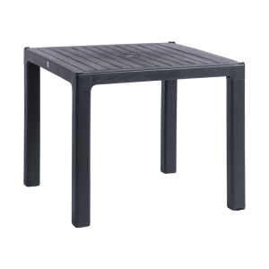 Plastic garden table ZER 90 - anthracite
