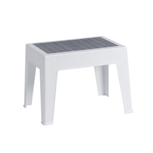 Plastic garden coffee table PETUNYA 55 - white B