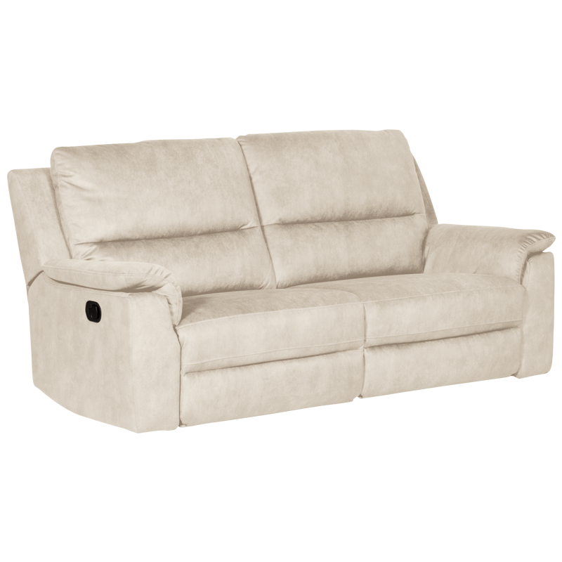 Recliner Sofa 3 Seater Beige Su Bittel, Reclining Sofa Bed Couch