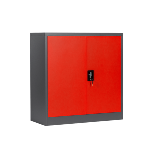 Metal cabinet Carmen CR-1239 E SAND - red - graphite
